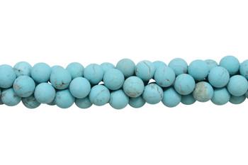 Howlite Turquoise Matte 10mm Round