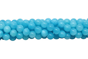 Mashan Jade Ocean Blue Dyed Polished 8mm Round