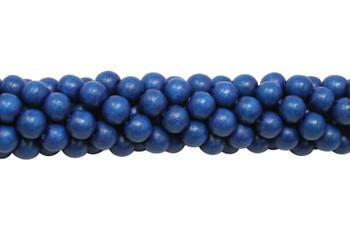 Dyed Royal Blue Wood Polished 8mm Round