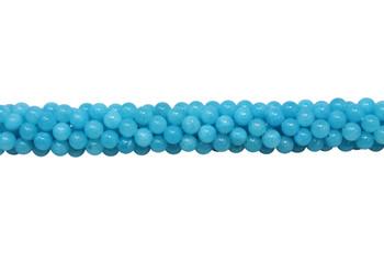 Mashan Jade Ocean Blue Dyed Polished 6mm Round