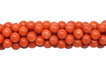 Mashan Jade Orange Dyed Polished 6mm Round