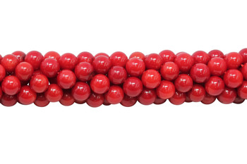 Red Coral Polished 7mm Round