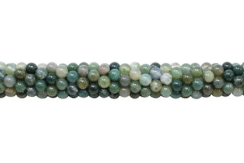 Moss Agate Polished 4mm Round