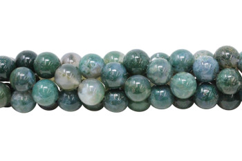 Moss Agate Polished 12mm Round