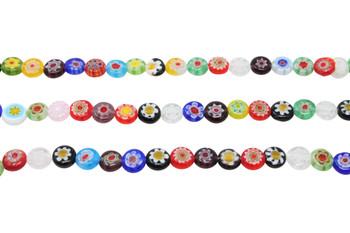 Millefiori Beads 8mm Coin