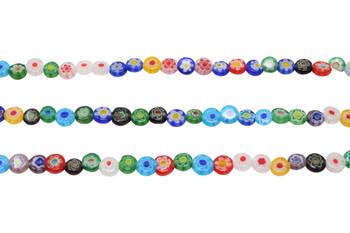 Millefiori Beads 6mm Coin
