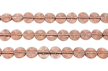 Copper Plated Brass Spiral 11mm Flat Round