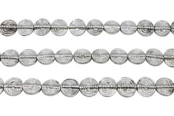 Silver Plated Brass 11mm Flat Spiral Round