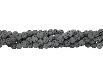 Bead World Exclusive Lava Rock Uncoated Natural 6-7mm Round