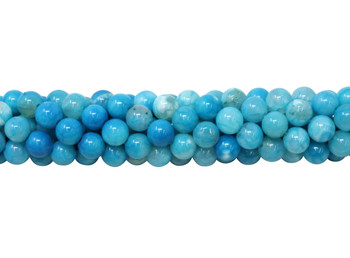 Light Blue Fire Agate Polished 6mm Round