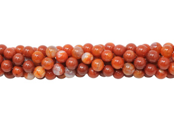 Red Fire Agate Polished 6mm Round