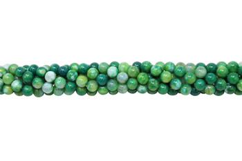 Light Green Fire Agate Polished 6mm Round