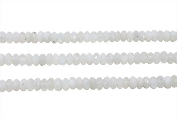 Rainbow Moonstone AA Grade Polished 5x8mm Faceted Rondel
