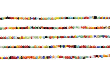 Christmas Seed Beads 1-2mm Yellow/Orange/Green Mix