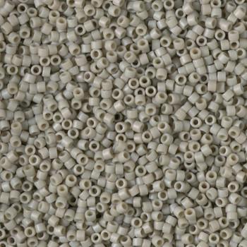 Delicas Size 11 Miyuki Seed Beads -- 2282 Glazed Opaque Grey Matte