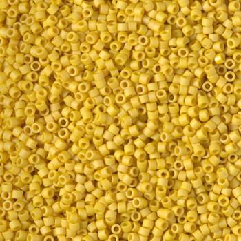 Delicas Size 11 Miyuki Seed Beads -- 2284 Glazed Opaque Pineapple Matte