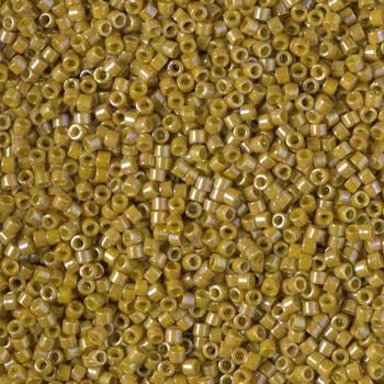 Delicas Size 11 Miyuki Seed Beads -- 2272 Glazed Opaque Pistachio