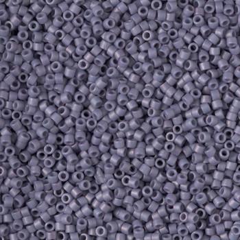 Delicas Size 11 Miyuki Seed Beads -- 2292 Glazed Opaque Grape Matte