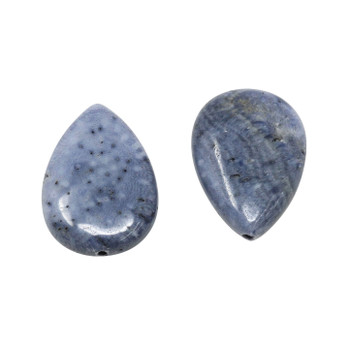 Blue Coral Polished 18x25mm Oval