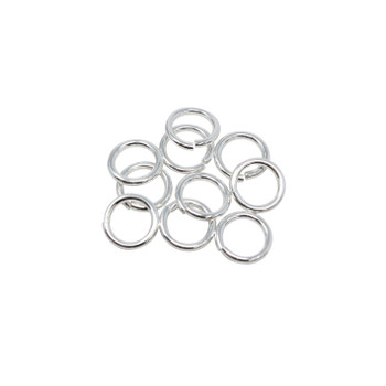 Sterling Silver 7mm Round 18 Gauge OPEN Jump Rings - 10 Pieces