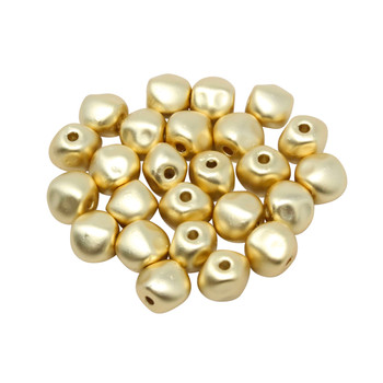 Gold Plated Matte 5x7mm Nugget Bead - Sold Individually