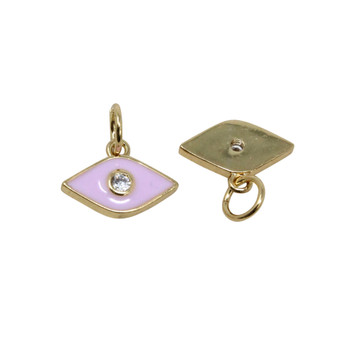 8x12mm Pink Evil Eye Enamel Charm