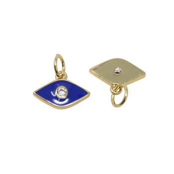 8x12mm Blue Evil Eye Enamel Charm