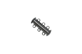 Gunmetal 20x10mm 3- Hole Magnetic Slide Clasp