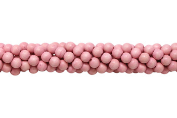 Dyed Pink Wood Polished 8mm Round