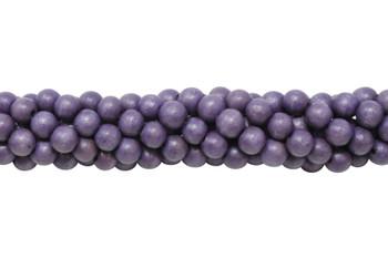 Dyed Dusty Purple Wood Polished 8mm Round