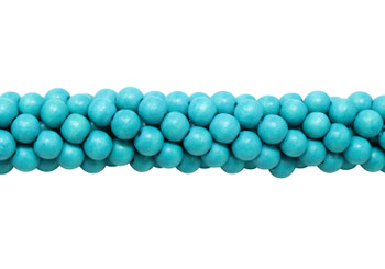 Dyed Caribbean Teal  Wood Polished 8mm Round