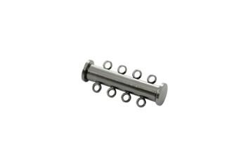 Gunmetal 26x10mm 4- Hole Magnetic Slide Clasp