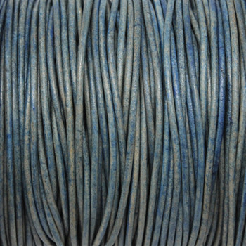 Natural Blue 1.5mm Leather Cord - Sold by the Foot