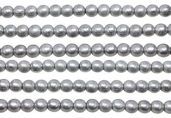 Czech Glass 6mm  Round -- Silver