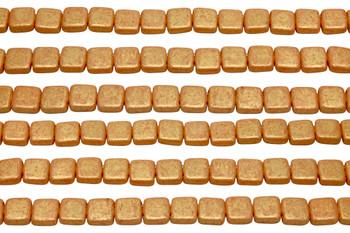 CzechMates® 6mm 2 Hole Tile -- Pacifica Tangerine