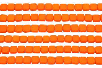 CzechMates® 6mm 2 Hole Tile -- Neon Orange