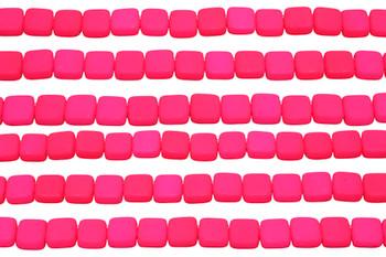 CzechMates® 6mm 2 Hole Tile -- Neon Pink