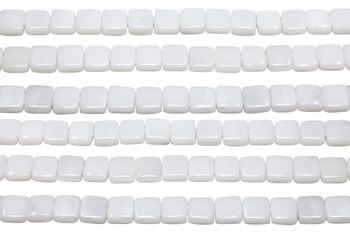 CzechMates® 6mm 2 Hole Tile -- Opaque White