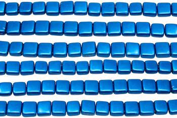 CzechMates® 6mm 2 Hole Tile -- Metallic Galaxy Blue