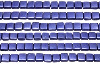 CzechMates® 6mm 2 Hole Tile -- Metallic Ultra Violet