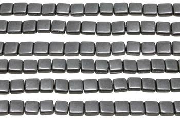 CzechMates® 6mm 2 Hole Tile -- Metallic Frost Grey