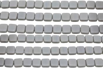 CzechMates® 6mm 2 Hole Tile -- Matte Ashen Grey