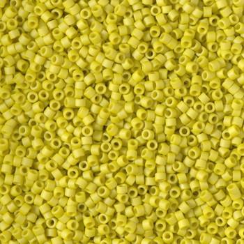 Delicas Size 11 Miyuki Seed Beads -- 2283 Glazed Opaque Yellow Matte