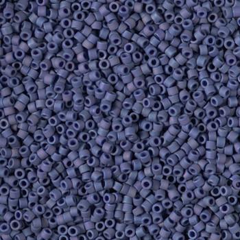 Delicas Size 11 Miyuki Seed Beads -- 2319 Glazed Opaque Navy Blue AB Matte