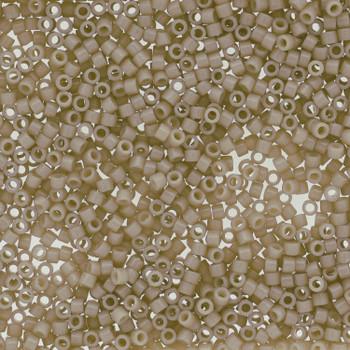 Delicas Size 11 Miyuki Seed Beads -- 2363 Duracoat Opaque Antique White
