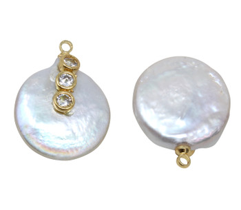 Freshwater Pearl 18-20mm Coin