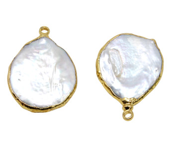 Freshwater Pearl 20-25mm Coin Drop