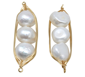 Freshwater Pearl 40-12mm Wrap Link