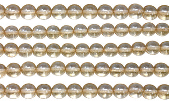 Czech Glass 8mm Round -- Luster Transparent Champagne