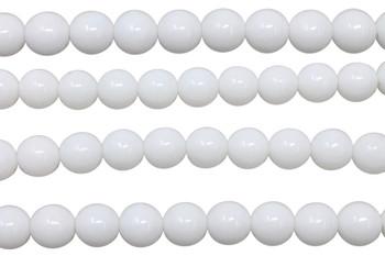Czech Glass 8mm Round -- Opaque White
